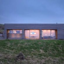 Storey country house with a flat roof in Scotland-7