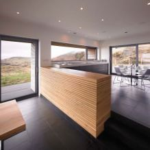 Storey country house with a flat roof in Scotland 11
