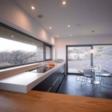 Storey country house with a flat roof in Scotland 12