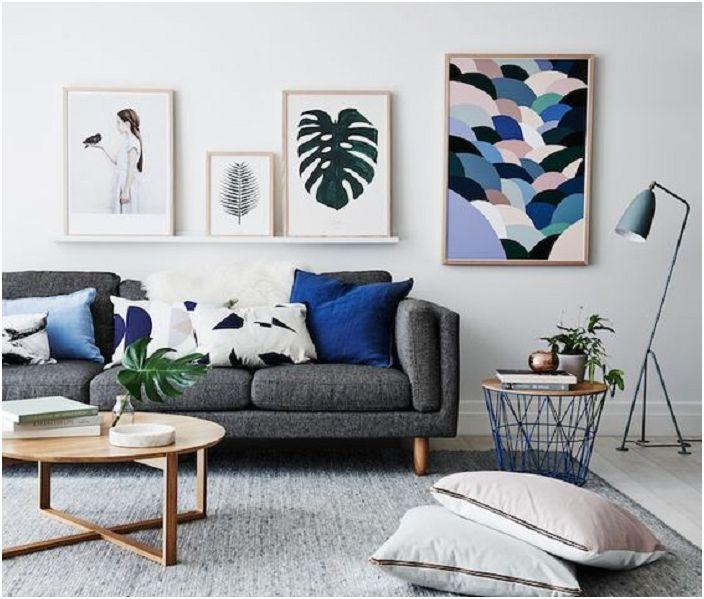 Осъществяване стая в нюанси на сивото: 32 интересни примери