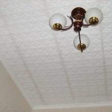 The foam tile ceiling: the pros and cons, gluing stages 1