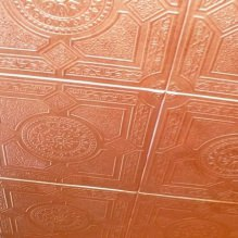 The foam tile ceiling: the pros and cons, steps gluing-5