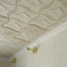 The foam tile ceiling: the pros and cons, steps gluing-7