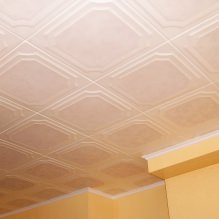 The foam tile ceiling: the pros and cons, steps gluing-14