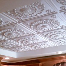 The foam tile ceiling: the pros and cons, steps gluing-11