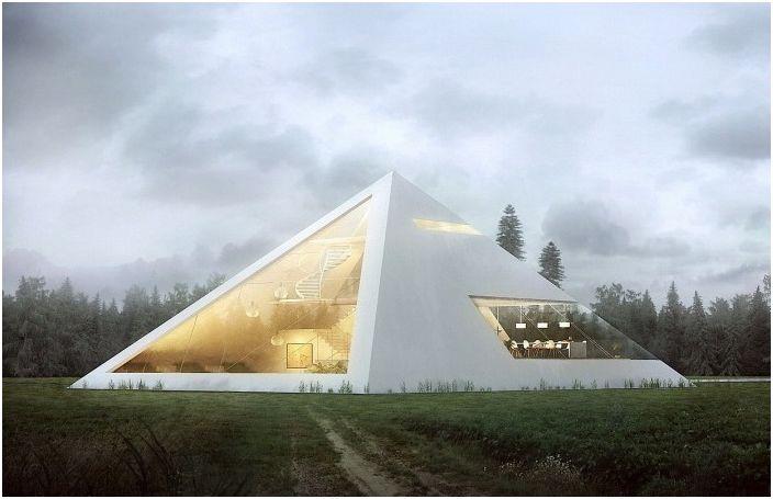 Почувствайте се като фараон: футуристична концепция пирамида къща
