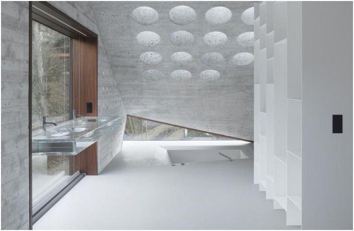 Имитиране кристални лица: Асиметричен къща от бетон и стъкло