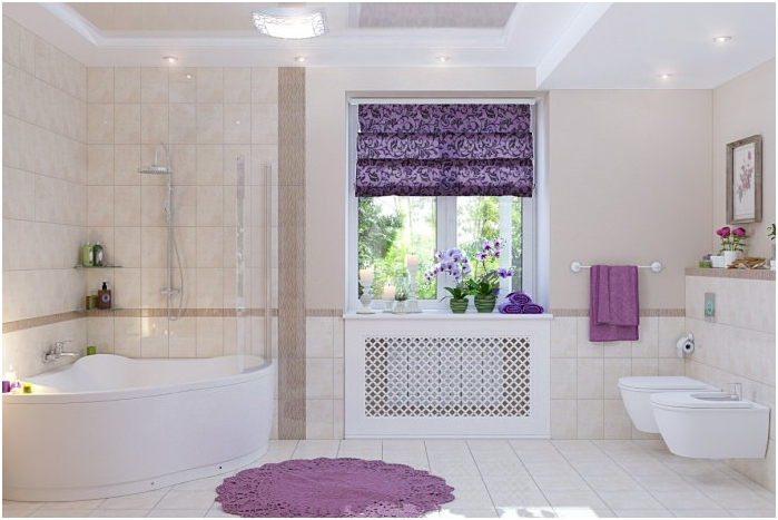 Roman blinds bathroom