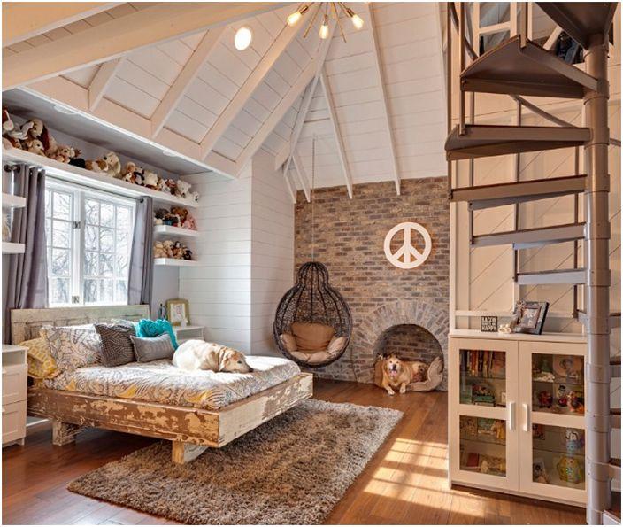 멋진 디자인 아이디어 침실 로프트 스타일 : 22 생생한 예 ...
