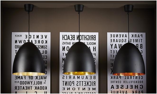 Съвременните висулка светлини в интериора