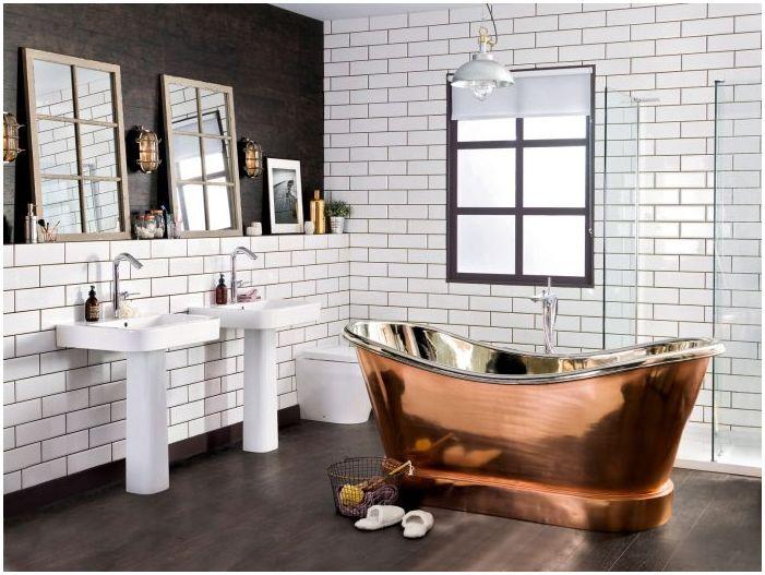 Loft стил в банята