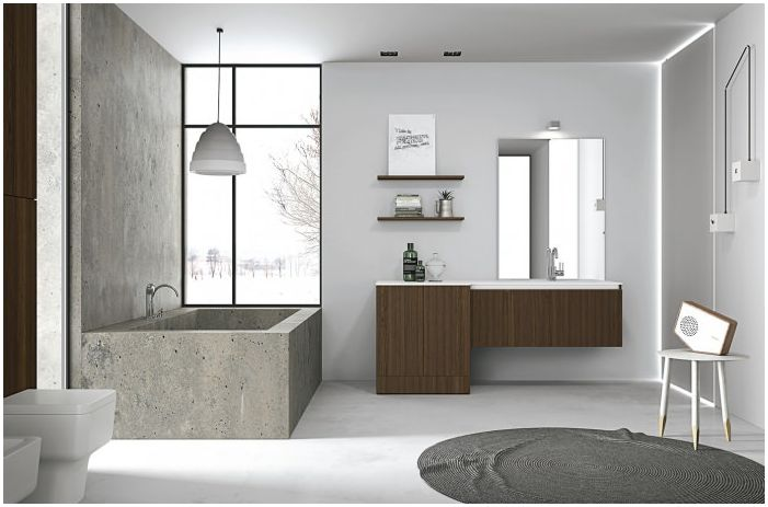 Minimalism in bathroom