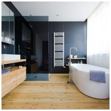 Minimalist style in the bathroom: features, photo 1