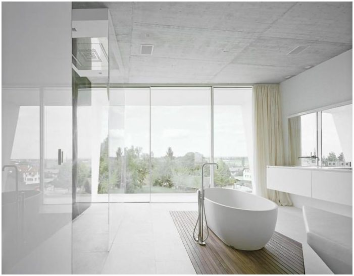 Bathroom design in the style of minimalism