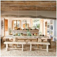 Селски стил в интериорния дизайн: разполага снимка