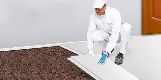 Dry screed technology