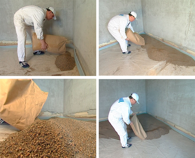 The device dry screed