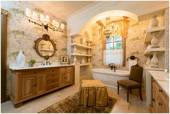 컨트리 스타일의 욕실 : 특징, 사진  dizainall.com