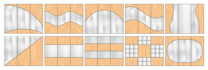 options for combining wardrobe facades