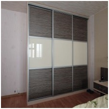 Variants of design of facades wardrobe 7 doors