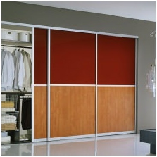 Variants of design of facades door wardrobe 10