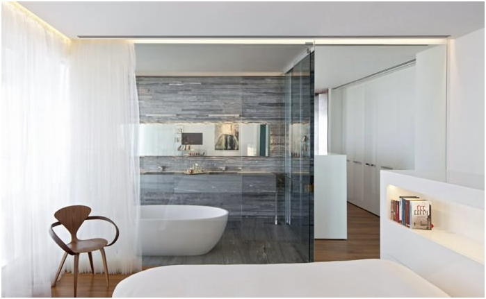 decorative glass partitions for rooms zoning