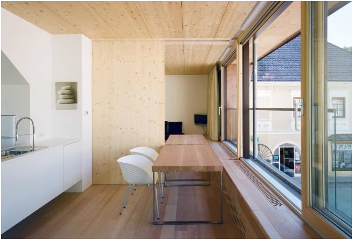 wooden interior partitions