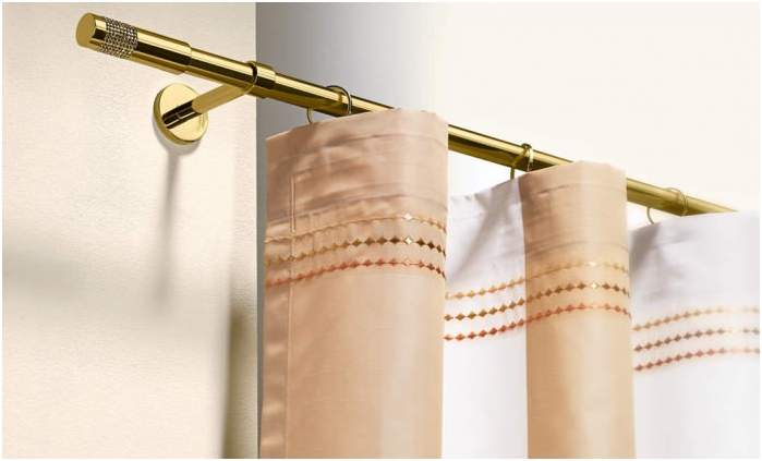 golden cornice for curtains
