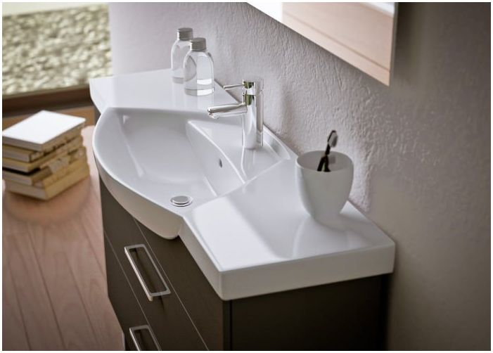 sink in bathroom interior