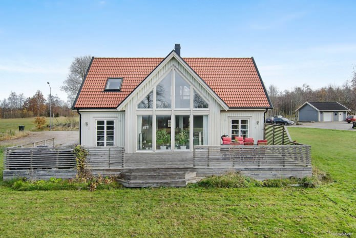 Country houses in the Scandinavian style: features, photos