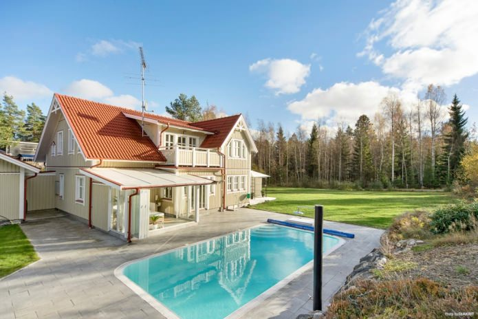 Country house with pool in the Scandinavian style