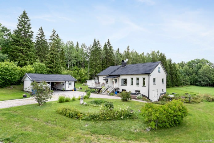 Country house in the Scandinavian style