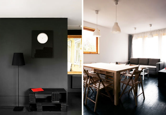 the interior of a country house in the style of minimalism