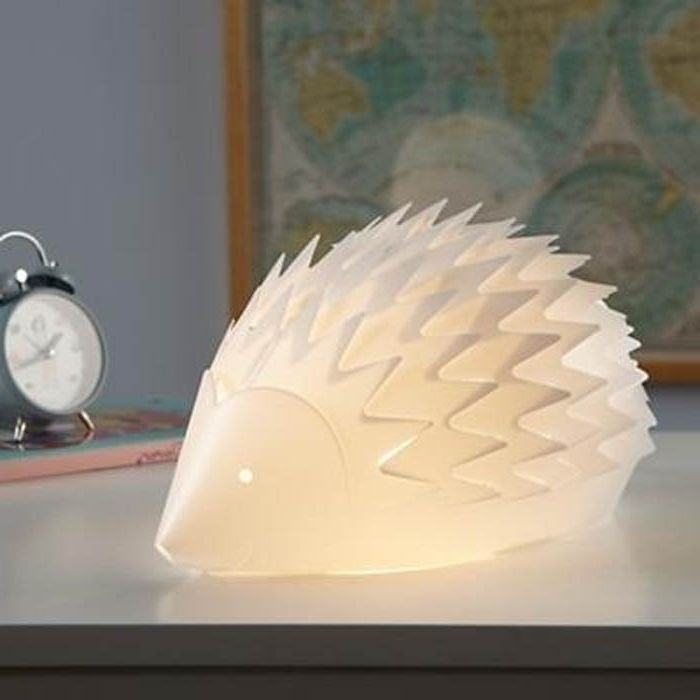 Night light in the shape of a hedgehog.