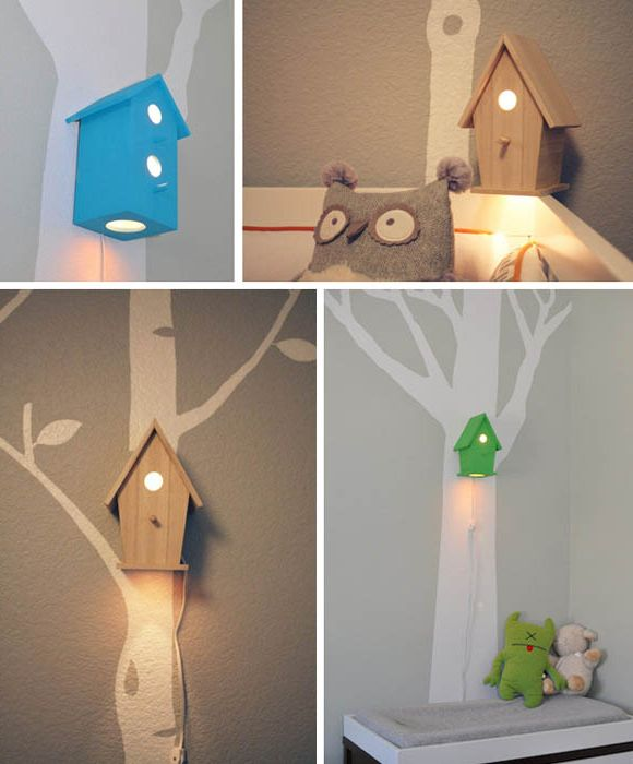 Night as birdhouses.