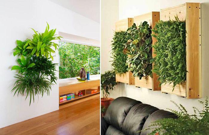 Piante Da Parete: Vaso a 7 tasche per piante da parete misura grande 30 x 101 cm.