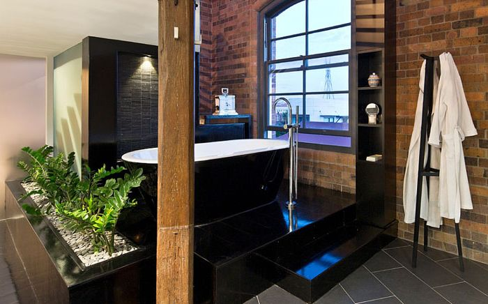 Bathroom in the industrial style of the spa