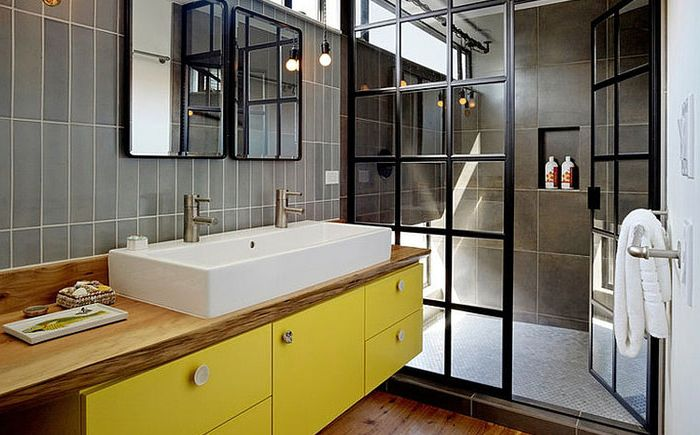 The interior of the bathroom by Robert Nebolon Architects