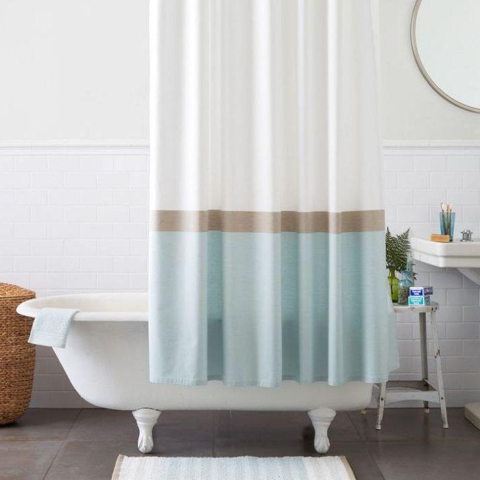 Tenda doccia moderna immagini ispirazione sul design - Tenda doccia design ...