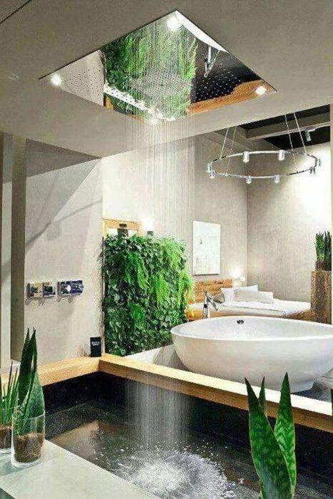 11 изящни идеи за дизайн на бани с душ дъжд