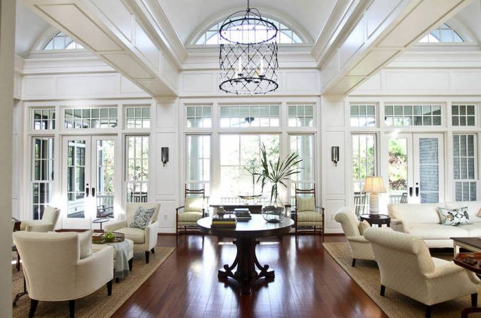 White visually enlarge a small room, and make a big huge.