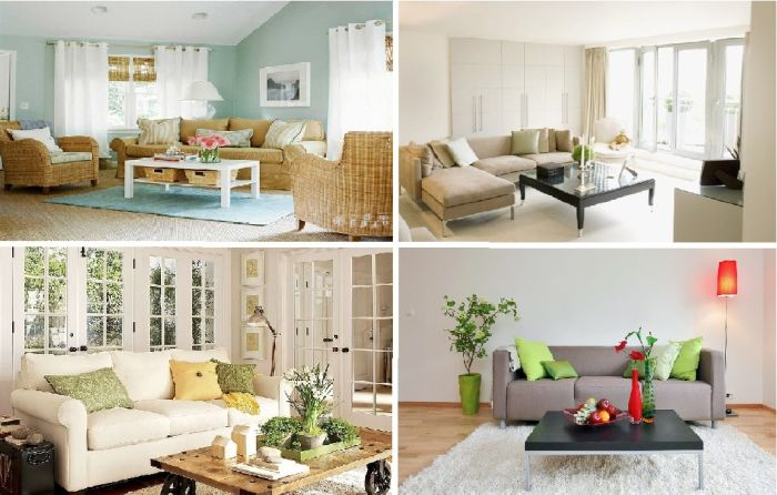 12 brilliant ideas effectively, but low-budget living room design.