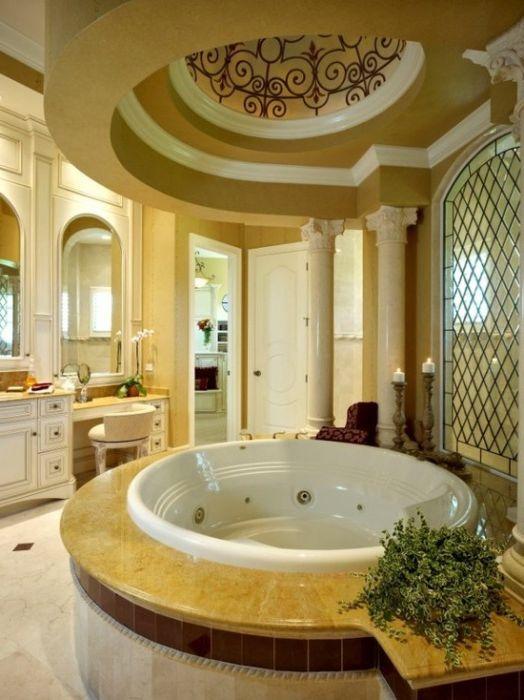 12 elegante bagno in stile mediterraneo - Vasca da bagno rotonda ...