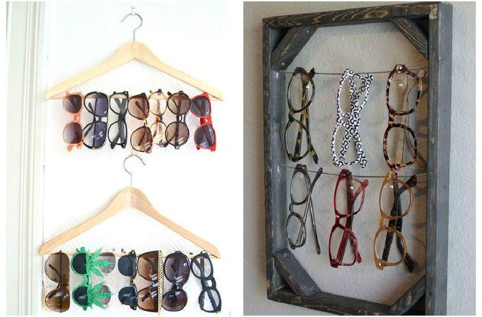 15 оригинални примери за това как да се съхранява слънчеви очила