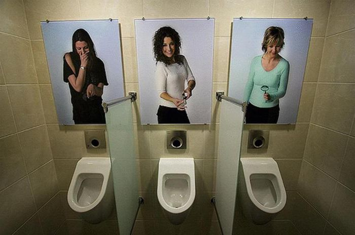 Ladies set very critical, so that the urinal is not for the faint of heart.