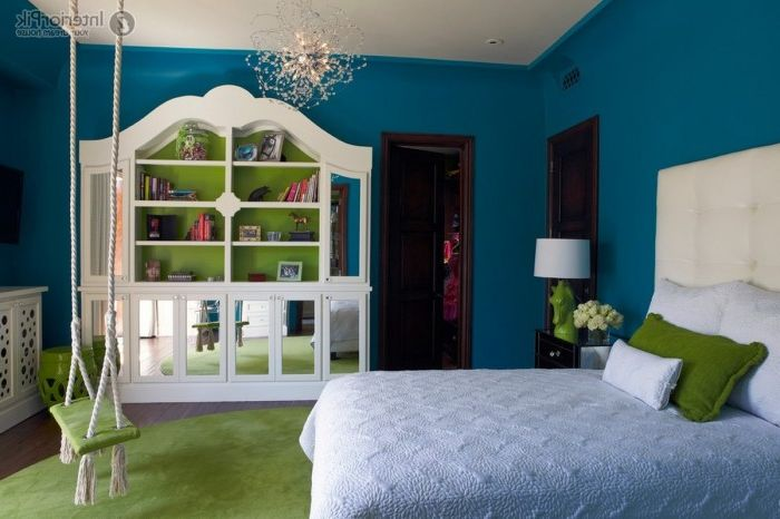 17 ideas for design of rooms with hanging swings from