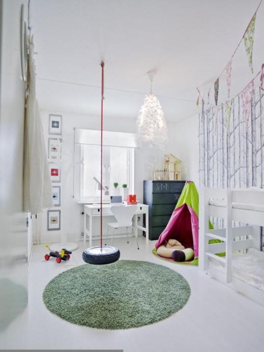 17 идеи за дизайн на стаи с висящи люлки, от които ще дойдат да зарадва деца и възрастни