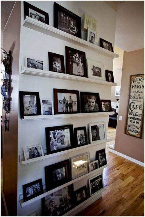 20 оригинални и удобни рафтове на жилищата