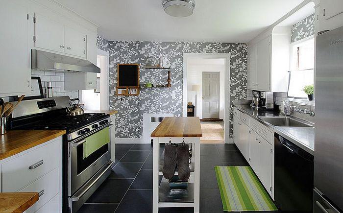 Carta da parati per cucine moderne carta da parati di mattoni moderni grigio bianco di effetto - Abwaschbare wandfarbe kuche ...