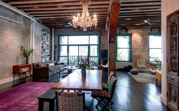 20 столове в индустриалната стил - красиви, цветни и функционални